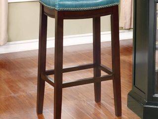 linon Claridge Bar Stool  30 inch Seat Height TEAl