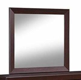 Fenbrook Dark Cocoa Rectangular Dresser Mirror   Brown   41  x 1  x 39
