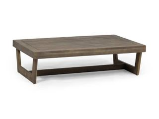 Sherwood Outdoor Acacia Wood Coffee Table by Christopher Knight Home