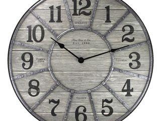 27  Cooper Farmhouse Wall Clock Gray   FirsTime   Co