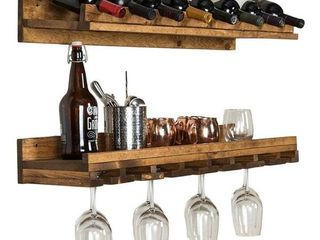 Handmade Del Hutson Designs Rustic luxe Wine Bottle and Stemware Set