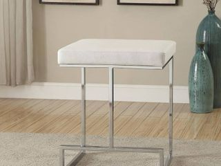 Strick   Bolton lucy Chrome plated Metal Base 24 inch Counter height Stool