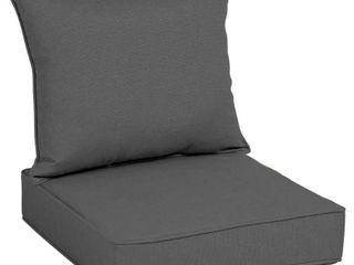 Acrylic Outdoor Deep Seat Cushion Set Graphite linen   Arden Selections