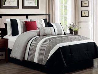 Callie embroidered 7 piece comforter set QUEEN
