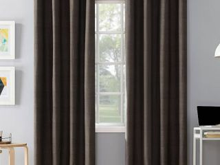 108 x50  Duran Thermal Insulated Total Blackout Grommet Top Curtain Panel Walnut Brown   Sun Zero