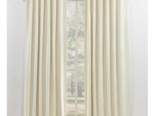 lauren Ralph lauren Waller Blackout Back Tab Rod Pocket Curtain Panel   84 Inches   Natural