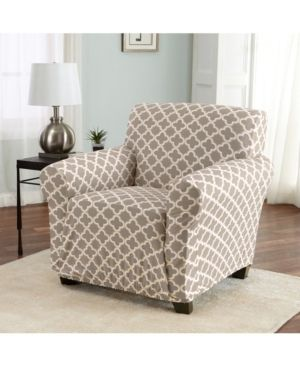 Home Fashions Designs Brenna Collection Stretch Fit Form Fitting Printed Twill Chair Slipcover