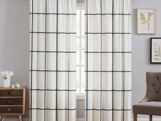 Truly Soft Kurt Windowpane Window Curtain  50 x84