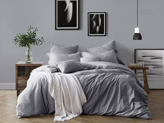 All Natural luxurious Soft Prewashed Yarn Dye Cotton Chambray Duvet Cover   TAN