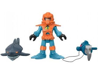 Imaginext Reef Diver Figure with Shark   Accessories