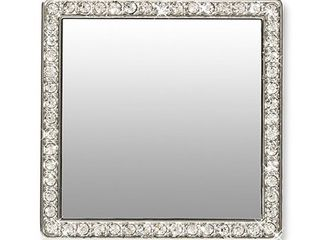 Idecoz Square Phone Mirror   Silver Crystals