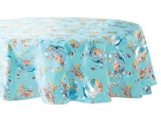 Mainstays Sea life Vinyl Tablecloth  70  Round