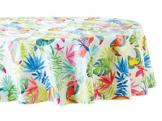 Mainstays Tropical Vinyl Tablecloth  70  Round