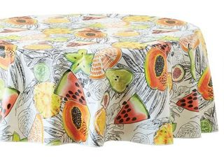 Mainstays Fruit Vinyl Tablecloth  70  Round