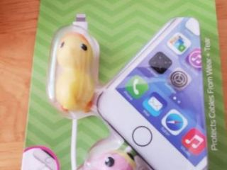 Duck And Parrot Bird Tzumi Bytes 2 Cable Cord Tips Protectors Phone Universal
