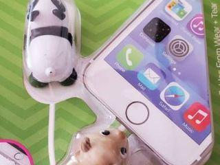 Tzumi Cord Bytes Cable Protectors Nip 2pk   Panda   Sheep goatIJ   Free Shipping
