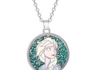 Disney Frozen Elsa Glitter Pendant  16    2  Chain