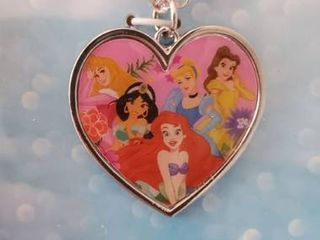 Disney Princess Heart Pendant 16    2  Chain