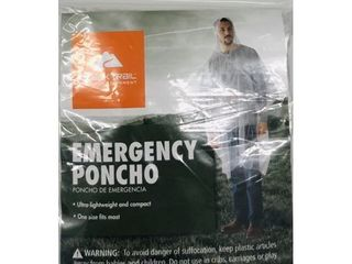 lOT OF 4  Ozark Trail Emergency Poncho   Clear One Size