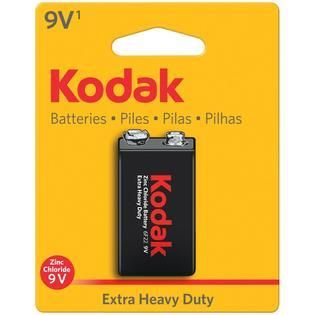lot of 4  KODAK K9VHZ 1 30635401 Extra Heavy Duty Carbon Zinc Batteries  9V  1 pk