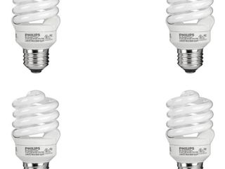 Philips 823031 CFl light Bulb 13W T2 Twister Daylight 6500K  60 Watt Equivalent  4 Pack