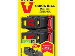 Victor M140S3 Quick Kill Mouse Trap  3 Pack