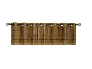 Versailles Tortoise Shell Bamboo Grommet Top Valance   72W x 12H in