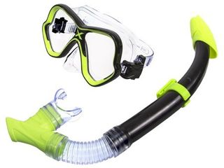 Adult Excellence Mask   Snorkel Swim Set   Yellow
