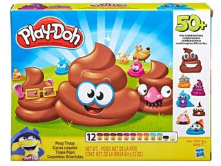 Play Doh Poop Troop Set with 12 Cans Play Doh  Ages 3 and up
