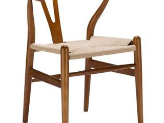 Poly and Bark Weave Chair in Walnut  Retail 175 49