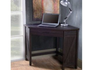 Black Oak Corner Computer Desk  Retail 145 99