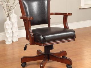 Furniture of America Jier Traditional leatherette Game Armchair  Retail 273 99