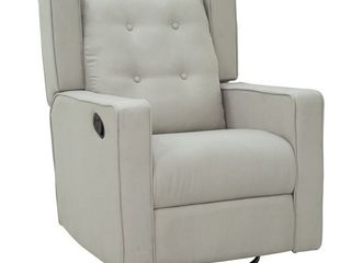 HomCom Polyester linen Fabric Swivel Gliding Recliner Chair  Retail 348 99