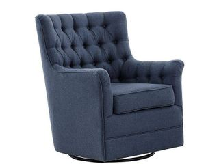 Madison Park Rae Blue Swivel Glider Chair  Retail 416 49