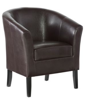 Porch   Den Mapleview Coffee Brown Upholstery Chair  Retail 164 49