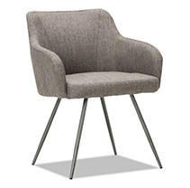 Alera Captain Series Guest Reception Waiting Room Chair  Gray Tweed