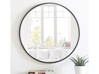 Carson Carrington Salmi 32 inch large Aluminum Alloy Round Mirror  Retail 179 99
