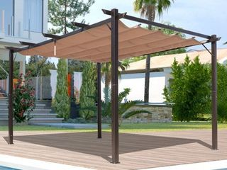 Outsunny Steel Outdoor Backyard Patio Canopy Cover   10  x 13  Retail 379 99