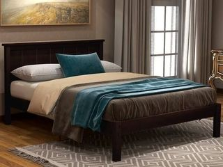 Harper   Bright Designs Wood Platform Bed with Headboard  Retail 348 49