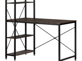 South Shore Evane Industrial Desk with Bookcase  Retail 147 97