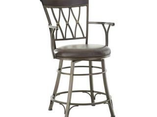 Bella Jumbo Metal Swivel Counter or Bar Stool by Greyson living  Retail 219 49
