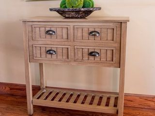 The Gray Barn Beaver Nursery Bead Board 4 drawer Console Table  Retail 171 99