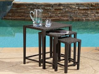 Abbyson Renee Outdoor Wicker Nesting Tables  Retail 149 99