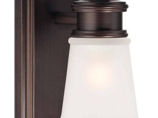 Dark Brushed Bronze  Painted  1 light Bath by Minka lavery  Retail 89 95