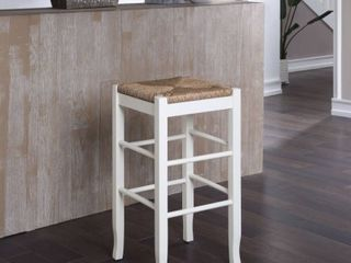 The Curated Nomad Slaot Woven 29 inch Square Counter Stool