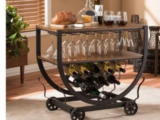 Carbon loft Cohn Industrial Dark Brown Cart  Retail 217 49