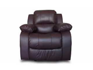 Classic Oversize and Overstuffed Single Seat Bonded leather Recliner Chair  Retail 322 99