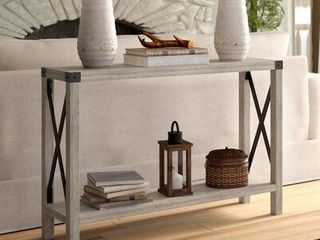 The Gray Barn 46 inch Kujawa X Frame Entry Table  Retail 146 49