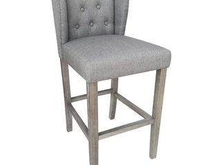 Wellington Contemporary Wood linen Barstool