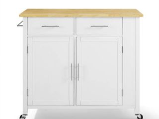 Savannah Wood Top Full Size Kitchen Island Cart   37 H x 42 W x 18 25 D  Retail 348 99